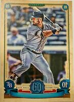 Kevin Kiermaier ERROR 2019 Topps Gypsy Queen #27 Missing Name T.B. Rays