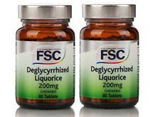 FSC Deglycyrrhized Liquorice 200mg 60 Tablets **PACK OF 2** Sugar Free Chewable