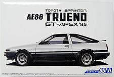 Aoshima 51566 The Model Car 05 TOYOTA AE86 Sprinter Trueno GT-APEX '85 1/24