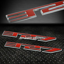 2X METAL BUMPER TRUNK GRILL EMBLEM DECAL STICKER BADGE CHROME/RED SBC 327 5.3