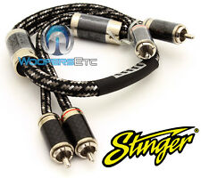 STINGER SI921.5 2-CHANNEL 1.5 FT MALE PURE SILVER RCA 9000 INTERCONNECT CABLE