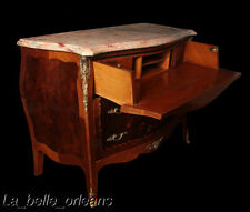 French Louis Xv Inlaid Dresser With Secretary. Marble Top