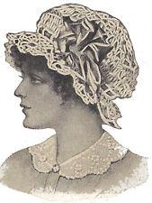 Vintage Crochet PATTERN to make Night Sleep Cap Mopcap Swimming Hat Boudoir