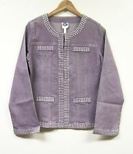 DG2 Stretch Denim Studded Jean Jacket $79.90 LILAC PURPLE Sz XS
