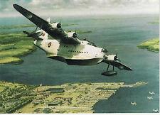 RAF Sunderland Flying Boat Pembroke Dock Coastal Command Shorts Greeting Card