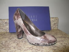 "Stuart Weitzman ""Tango"" Platforms 8 M Taupe/Snake Leather Upper New with Box"