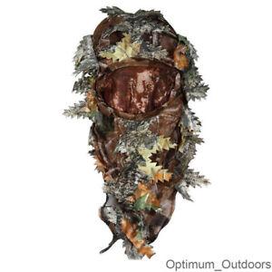 3D Real Tree Camouflage Camo Hood Balaclava Hunting Mask Veil Hat Shooting UK