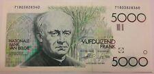 5000 Francs Frank GEZELLE Belgïe Belgique Belgium Banknote 1982-1992