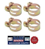 """UTILUX HOSE CLAMPS (4) GOLD IN COLOUR 1.03"""" X 4 SUIT FORD HOLDEN RARE SPARES"""