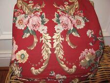 Ralph Lauren MARSEILLES Red Floral King Duvet Cover RARE NEW