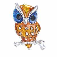 Fashion Birds Owl Women Rhinestone Crystal Brooch Pin Party Costume Jewelry Gift