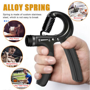 Adjustable Hand Grip Strengthener Wrist Therapy Forearm Trainer Gym Exerciser US