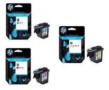 3x TESTINA DI STAMPA HP DESIGNJET 110 plus 111 500 510 800 / nr. 11 C4811A