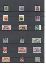 Memel, Litauen, Klaipeda 1923, Einzelmarken aus MiNrn: 1 - 150 **, postfrisch