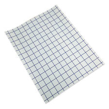 "10 sheet-12""x15"" Clear Transfer Tape Lined w/Blue Grid-Adhesive Vinyl-Craft Proj"