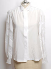 Vintage Lee max Pageant White Blouse shirt lace top