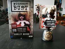 More details for harley quinn cryptozoic mugshot bust dc comics