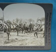 WW1 Stereoview Photo French Cavalry Ready To Follow Infantry Attack Keystone
