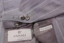 Stunning CANALI 1934 men's gray stripe suit peaked lapels EU 50R US 42R