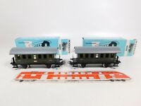 CO671-0,5# 2x Märklin H0/AC 4000 Blech-Personenwagen 2. Klasse Bi, sehr gut+OVP
