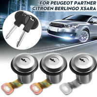 Barrel Lock Door Lock Set Compatible For Peugeot Partner Xsara Citroen  Y