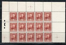 FRANCE EUROPE MONACO  STAMPS BLOCK MINT  HINGED PARTIAL SHEET  LOT 8029