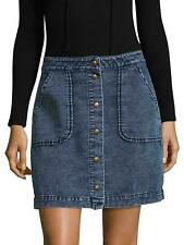 Three Dots Women's Pocket Cotton Skirt Blue NWT Size: s