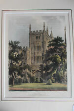 7 original hand-coloured aquatints from Ackermann's History of Oxford, 1813-14