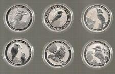 Australien je 1 Unze Silber Kookaburra 2014, 2015, 2016, 2017, 2018 und 2019 St.