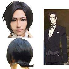 black bulter Kuroshitsuji Claude Faustus cosplay wig