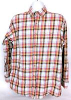 George Strait Wrangler Men's Western Shirt Large Cowboy Cut Plaid Long Sleeve