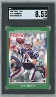 2006 Topps Total Team Checklist #TC19 Tom Brady SGC 8.5 NM/MT+
