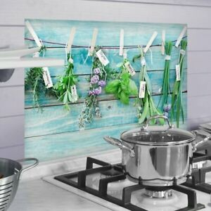 Paraschizzi -  Erbe | Protezione ignifuga e lavabile per cucina