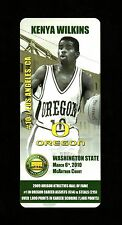 2010 KENYA WILKINS Oregon Ducks *Mac Court Farewell* BASKETBALL CARD GIVEAWAY