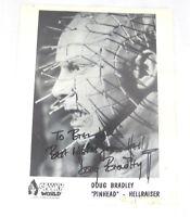 "Doug Bradley ""PINHEAD"" HELLRAISER  Movie Actor 8 x 10 Signed Photo ""Best Wishes."