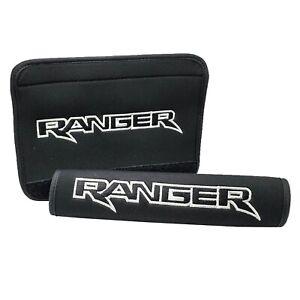 Ranger Logo Black Neoprene Automotive Seat Belt Shoulder Pads Safety Bag Straps