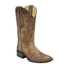 CORRAL Donna Cognac Antico SELLA Cowgirl Punta Quadrata Boot-G1212