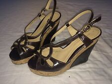 DOROTHY PERKINS Brown Wedges Size UK 5 / 38 - Suede ComfyHigh Heels Party Summer