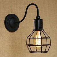 Vintage Métal Cage Industriel Câble Cadre Pendentif Lampe Plafond Décoration