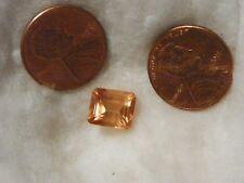 Hessonite Orange Garnet  4.72 Carats 8.45x9.91x5.99 MM. Octagon Faceted Silky
