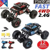 2PCS 4WD RC Monster Truck Off Road Vehicle 2.4G Buggy Crawler Car KIDS GIFT PSCC