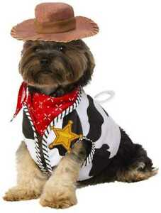 Disney Pet Costume - TOY STORY WOODY Sheriff Vest Hat Bandana S/M M/L Dog