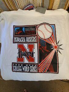 NCAA Vintage 1999 College World Series T Shirt Large Nebraska Huskers