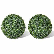 vidaXL 2x Boxwood Ball Artificial Leaf Topiary Ball 35cm Realistic Fake Plant