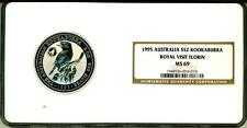 1995 S$2 Australia 2 Oz Silver Kookaburra Royal Visit Florin NGC MS69