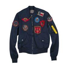 Top Gun Goose Gabard Bomber Jacket Uomo 59062 5244 179 Navy
