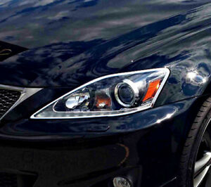 IDFR Lexus 2009~on IS250C 2D coupe chrome frame bezel for head lights
