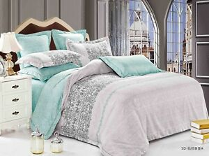 Tranquil Bedding Set: Duvet Cover Set/Heavy Weight Comforter or Both Queen/King