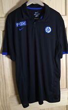 Maccabi Tel Aviv Shirt Nike Black Polo Shirt Patch Short Sleeve Collar Fox