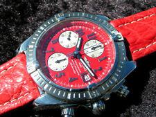BREITLING CHRONOMAT EVOLUTION STEEL A13356 ROTES ZIFFERBLATT RED DEAL ESFERAROJA